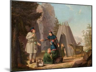 The Costumes of the Lapponians, c.1800-Pehr Hillestrom-Mounted Giclee Print