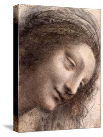 Head of Virgin, 1508-1512-Leonardo Da Vinci-Stretched Canvas Print