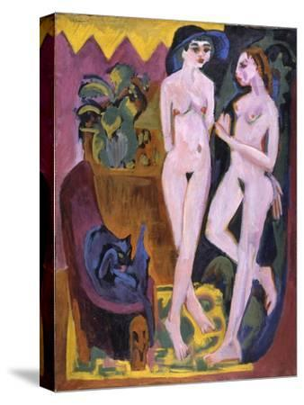 Two Nudes in a Room, 1914-Ernst Ludwig Kirchner-Stretched Canvas Print