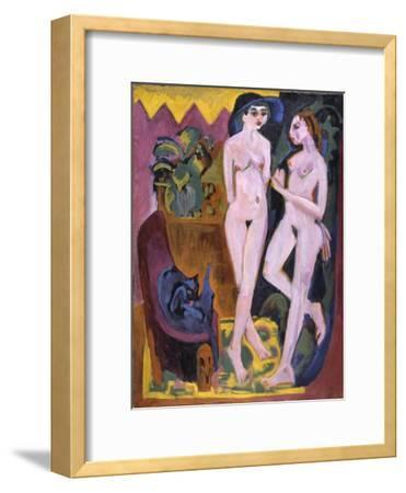 Two Nudes in a Room, 1914-Ernst Ludwig Kirchner-Framed Giclee Print