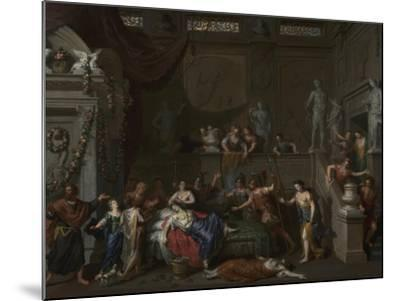The Death of Cleopatra, c.1700-10-Gerard Hoet-Mounted Giclee Print
