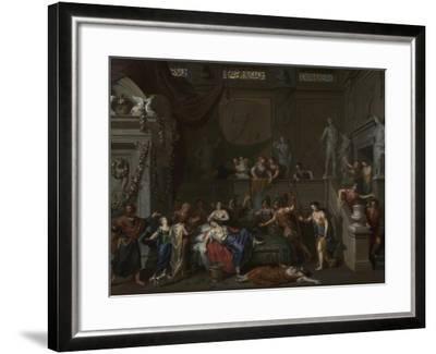The Death of Cleopatra, c.1700-10-Gerard Hoet-Framed Giclee Print