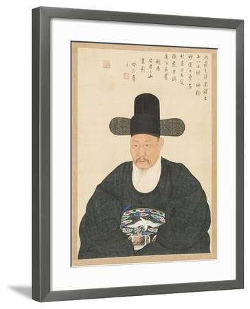Portrait of Scholar-Official Ahn in His Fifties, 19th century- Yi Chae-gwan-Framed Giclee Print
