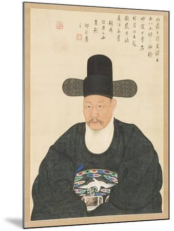 Portrait of Scholar-Official Ahn in His Fifties, 19th century- Yi Chae-gwan-Mounted Giclee Print