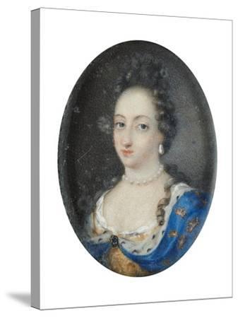 Miniature of Queen Ulrika Eleonora the Elder of Sweden, c.1680-Unknown Artist-Stretched Canvas Print