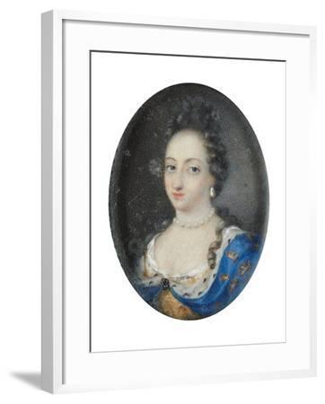Miniature of Queen Ulrika Eleonora the Elder of Sweden, c.1680-Unknown Artist-Framed Giclee Print