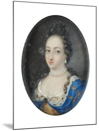 Miniature of Queen Ulrika Eleonora the Elder of Sweden, c.1680-Unknown Artist-Mounted Giclee Print