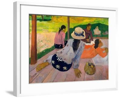The Siesta, c.1892-94-Paul Gauguin-Framed Giclee Print