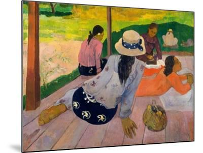 The Siesta, c.1892-94-Paul Gauguin-Mounted Giclee Print