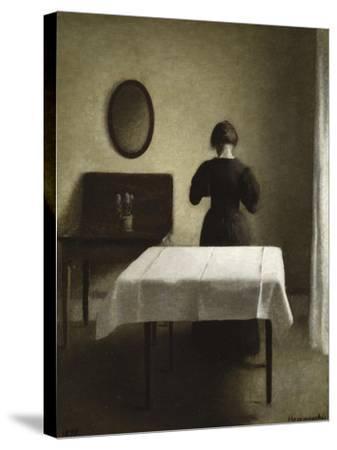 Interior, 1898-Vilhelm Hammershoi-Stretched Canvas Print