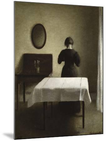 Interior, 1898-Vilhelm Hammershoi-Mounted Giclee Print