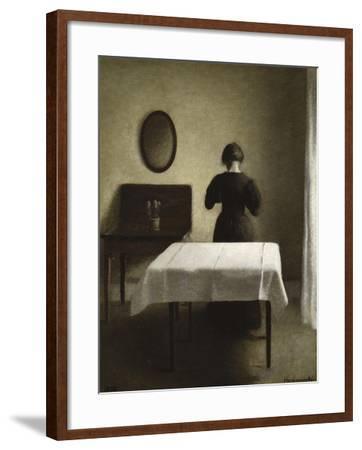 Interior, 1898-Vilhelm Hammershoi-Framed Giclee Print