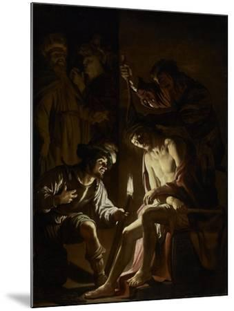 Christ Crowned with Thorns, c.1620-Gerrit van Honthorst-Mounted Giclee Print