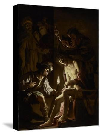 Christ Crowned with Thorns, c.1620-Gerrit van Honthorst-Stretched Canvas Print