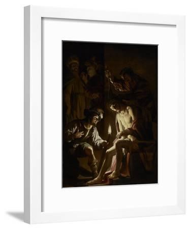 Christ Crowned with Thorns, c.1620-Gerrit van Honthorst-Framed Giclee Print