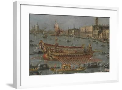 Venice Bucintoro Festival Bacino di S. Marco Bucintoro, Doge's State Barge, Ascension Day, 1780-93-Francesco Guardi-Framed Giclee Print