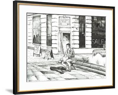 Musician St. Ann's Square, 2016-Vincent Alexander Booth-Framed Premium Giclee Print