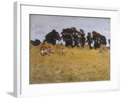 Reapers Resting in a Wheat Field, 1885-John Singer Sargent-Framed Giclee Print