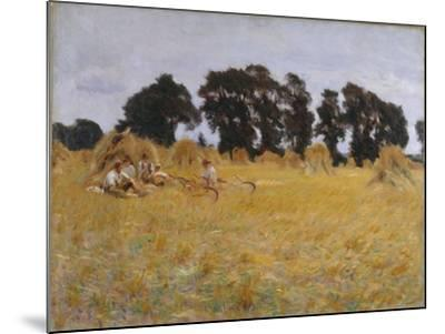 Reapers Resting in a Wheat Field, 1885-John Singer Sargent-Mounted Giclee Print