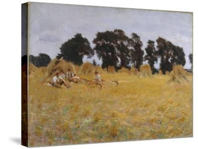 Reapers Resting in a Wheat Field, 1885-John Singer Sargent-Stretched Canvas Print