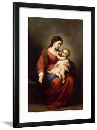 Virgin and Child, c.1670-72-Bartolome Esteban Murillo-Framed Giclee Print