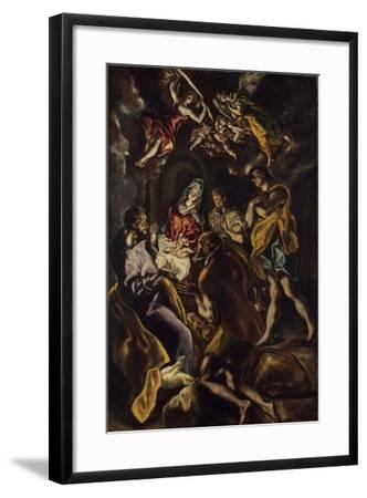 The Adoration of the Shepherds, c.1612-14-El Greco-Framed Giclee Print