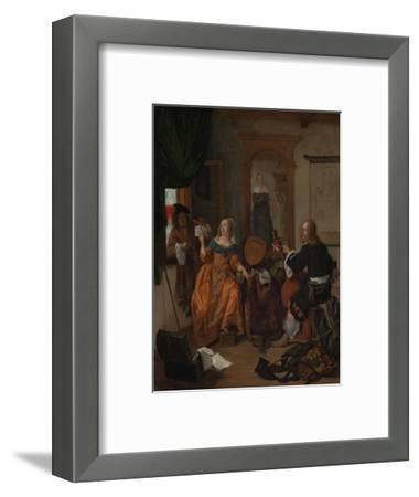 A Musical Party, 1659-Gabriel Metsu-Framed Giclee Print
