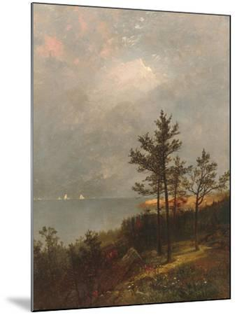 Gathering Storm on Long Island Sound, 1872-John Frederick Kensett-Mounted Giclee Print