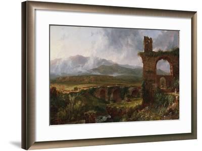 A View Near Tivoli (Morning), 1832-Thomas Cole-Framed Giclee Print