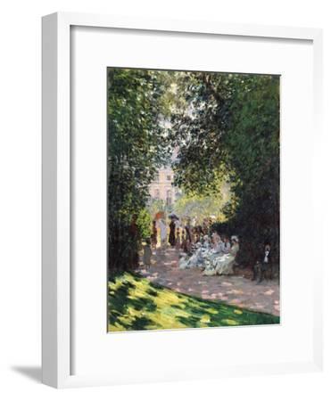 The Parc Monceau, 1878-Claude Monet-Framed Giclee Print