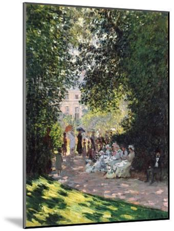 The Parc Monceau, 1878-Claude Monet-Mounted Giclee Print