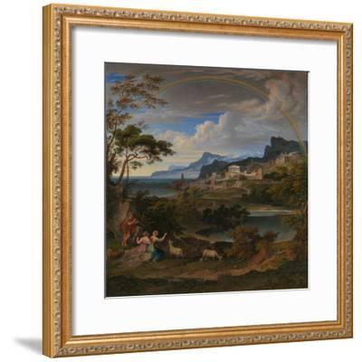 Heroic Landscape with Rainbow, 1824-Joseph Anton Koch-Framed Giclee Print