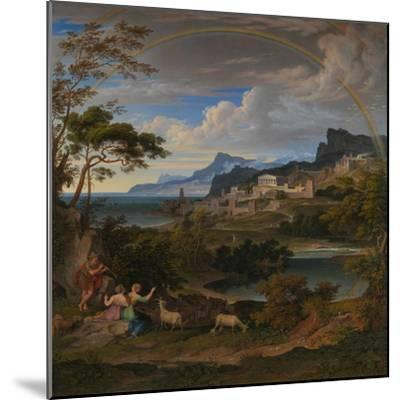 Heroic Landscape with Rainbow, 1824-Joseph Anton Koch-Mounted Giclee Print