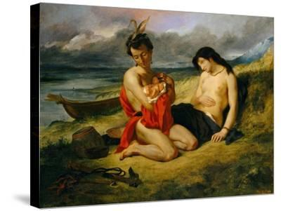The Natchez, 1823–24 and 1835-Eugene Delacroix-Stretched Canvas Print