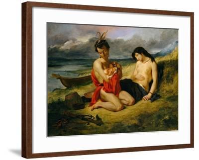 The Natchez, 1823–24 and 1835-Eugene Delacroix-Framed Giclee Print