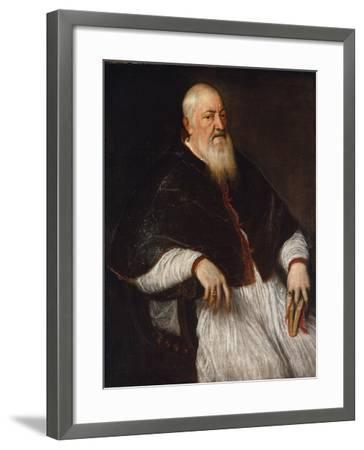 Filippo Archinto, Archbishop of Milan, c.1555-Titian-Framed Giclee Print