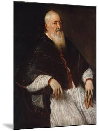 Filippo Archinto, Archbishop of Milan, c.1555-Titian-Mounted Giclee Print