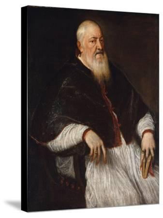 Filippo Archinto, Archbishop of Milan, c.1555-Titian-Stretched Canvas Print