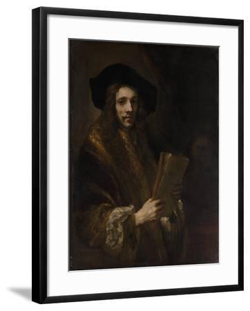 "Portrait of a Man (""The Auctioneer""), c.1658-62-Rembrandt van Rijn-Framed Giclee Print"