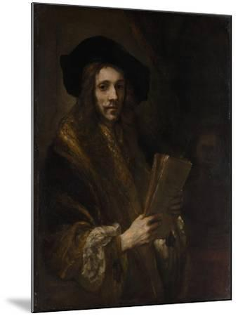 """Portrait of a Man (""""The Auctioneer""""), c.1658-62-Rembrandt van Rijn-Mounted Giclee Print"""