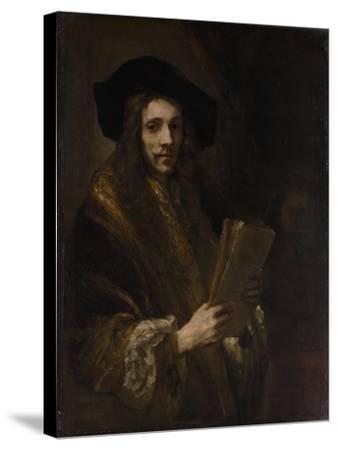 "Portrait of a Man (""The Auctioneer""), c.1658-62-Rembrandt van Rijn-Stretched Canvas Print"