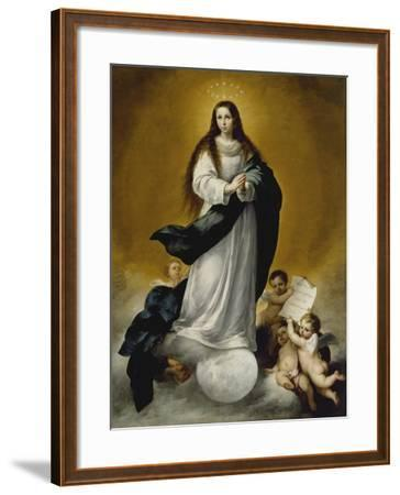 The Virgin of the Immaculate Conception, c.1660-Bartolome Esteban Murillo-Framed Giclee Print