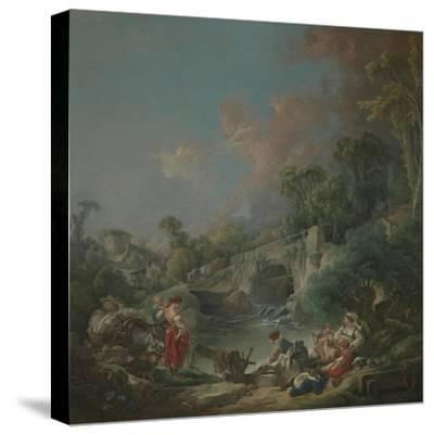 Washerwomen, 1768-Francois Boucher-Stretched Canvas Print