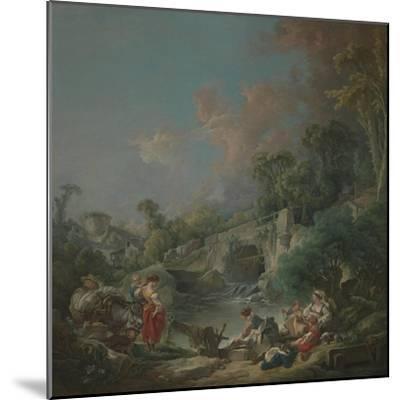 Washerwomen, 1768-Francois Boucher-Mounted Giclee Print