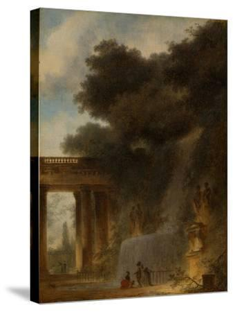 The Cascade, c.1775-Jean-Honore Fragonard-Stretched Canvas Print