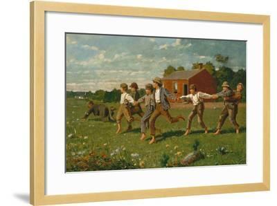 Snap the Whip, 1872-Winslow Homer-Framed Giclee Print