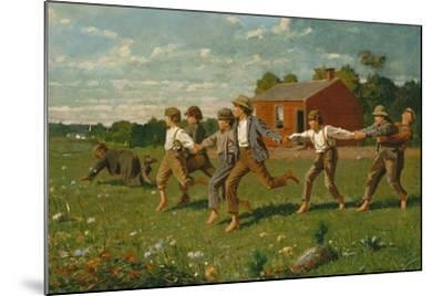 Snap the Whip, 1872-Winslow Homer-Mounted Giclee Print