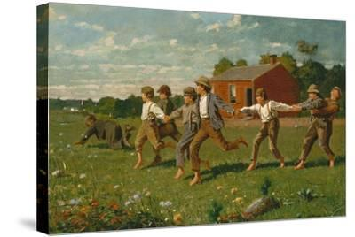 Snap the Whip, 1872-Winslow Homer-Stretched Canvas Print