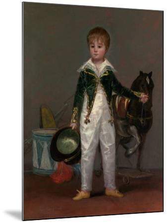 José Costa y Bonells (died 1870), Called Pepito, c.1810-Francisco de Goya-Mounted Giclee Print
