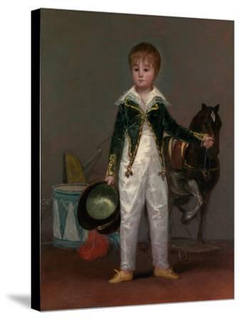 José Costa y Bonells (died 1870), Called Pepito, c.1810-Francisco de Goya-Stretched Canvas Print